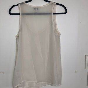 Joie Tops - Joie cream sheer tank top with small raised dot S